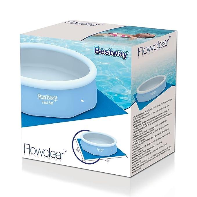 Bestway 58001 - Tapiz de suelo de 335 x 335 cm, azul: Bestway 58001 Bodenfolien 335 x 335 cm für FastSet Pools 305: Amazon.es: Deportes y aire libre