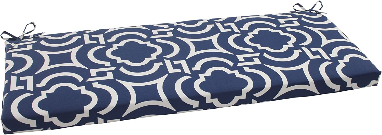 Pillow Perfect Indoor Outdoor Carmody Bench Cushion, Navy