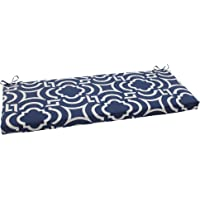 Pillow Perfect Outdoor/Indoor Carmody Navy Bench/Swing Cushion, Blue