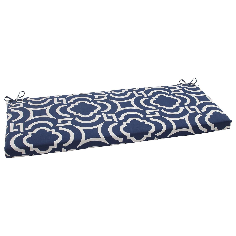 Amazon.com : Pillow Perfect Indoor/Outdoor Carmody Bench Cushion, Navy (Pack of 2) : Garden & Outdoor