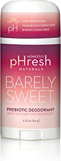 product image for Honestly pHresh- Natural Deodorant for Women and Men - Vegan, Gluten Free, Aluminum Free & Paraben Free, Naturally Derived Ingredients Baking Soda Free Deodorant (Barely Sweet- Passion Fruit)