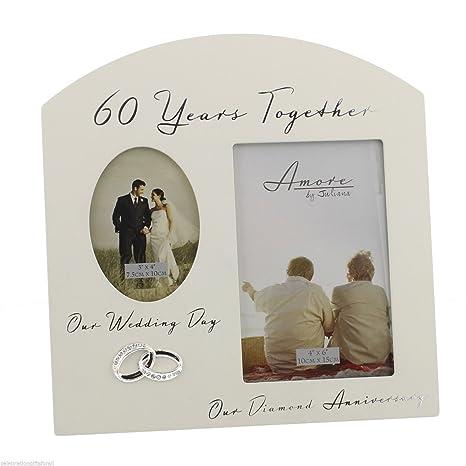 Anniversario Di Matrimonio 60 Anni.60 Anni Insieme Per 60esimo Anniversario Di Nozze Con Cornice Da