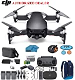 DJI Mavic Air Fly More Combo Drone - Quadcopter with 32gb SD Card - 4K Professional Camera Gimbal – 3 Battery Bundle - Kit - with Must Have Accessories (Onyx Black)