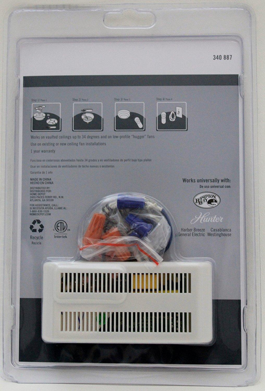 Universal Fan & Light Remote Control + Receiver - #340887 - Ceiling Fan Wall Controls - Amazon.com