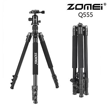 flycoo Zomei Q555 trípode de aleación de magnesio monopié con rótula ligera portátil para Canon Nikon Sony Samsung Panasonic Olympus Fuji DSLR y Camcorders: ...