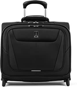 Travelpro Maxlite 5 - Softside Lightweight Underseat Rolling Tote Bag, Black, 16-Inch