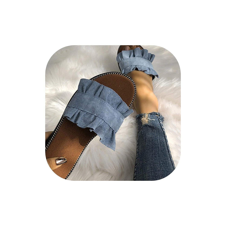 Flip Flops Summer Beach Slip On Slides Flip Flops Sandals Ladies Fashion Slippers