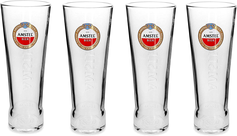 4 vasos de pinta Amstel