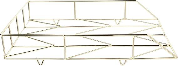Rosa e Oro Rose Gold 3.5 x 3.9 L * W * H Wire Metal Letter File Vassoio organizzatore Desktop Letter Tray-9.6/x 16/cm x 21,6/cm Daxoon Rose Gold Desk Tray