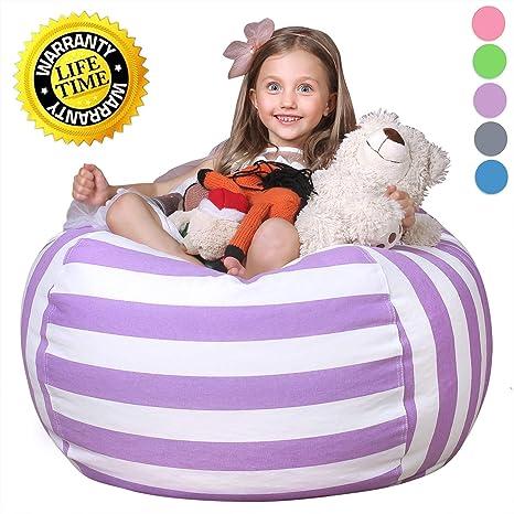 Ordinaire WEKAPO Kids Stuffed Animal Storage Bean Bag Chair | Extra Large Size 38u0027u0027 |