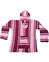 Mexican Baja Hoodie Pink Womens Small