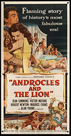 George Bernard Shaw/'s Androcles Vintage Art POSTER