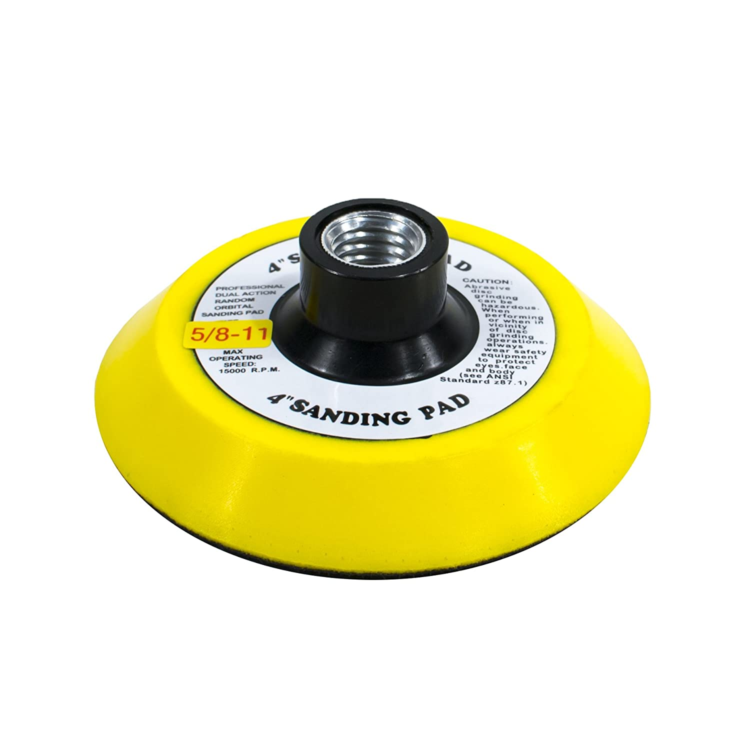 """TGR 5/"""" Hook and Loop Sanding Pad with 5//8-11 Threads"""