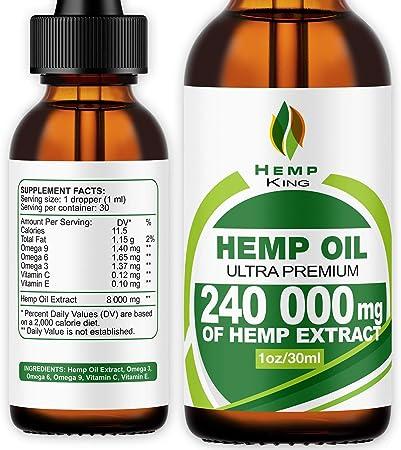 Hemp King Organic Vegan Hemp Oil Drops