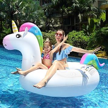 infinitoo unicornio hinchable flotador flotador gigante de piscina ...