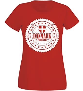 WM 2018 Soccer Marokko Damen T-shirt NC 05 Rot
