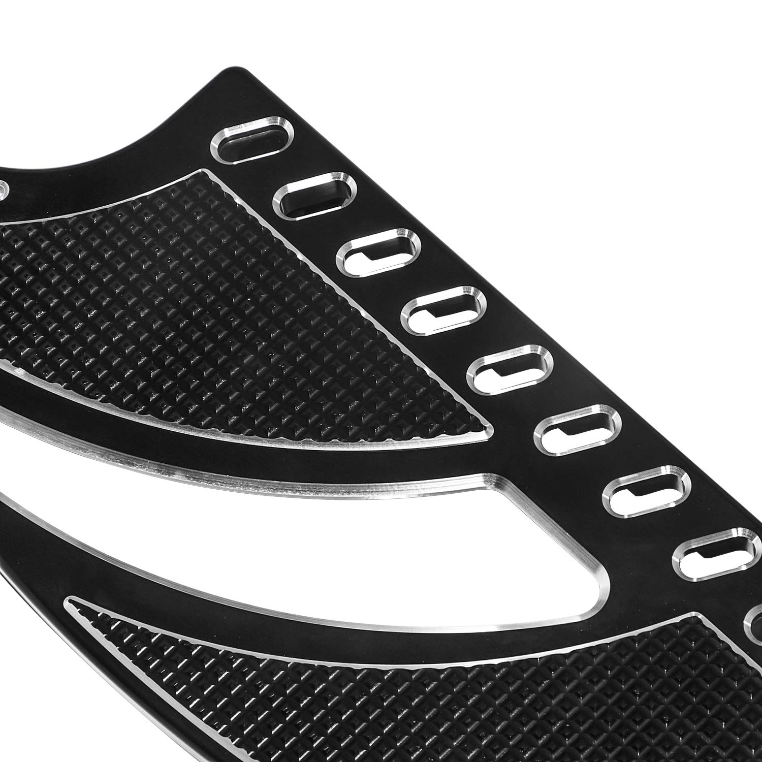 Senkauto Driver Stretched Floorboards Inserts for Harley Touring Elextra Road Street Glide Softail