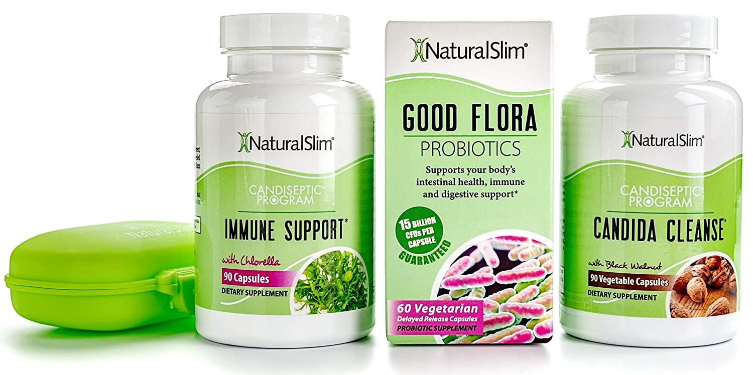 NaturalSlim Candida Albicans Treatment, Formulated by Award Winning Metabolism and Weight Loss Specialist- Full Detox and Cleanse of Fungus for Health ...