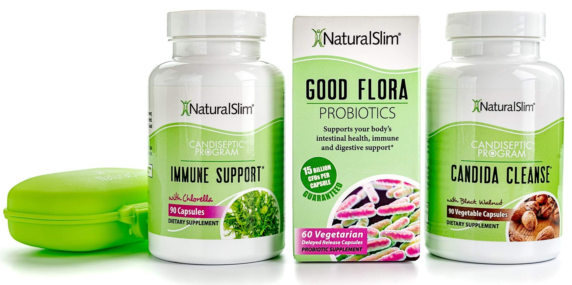 NaturalSlim Candida Albicans Treatment, Formulated by Award Winning Metabolism and Weight Loss Specialist- Full Detox and Cleanse of Fungus for Health and Weight Loss Aid by RelaxSlim
