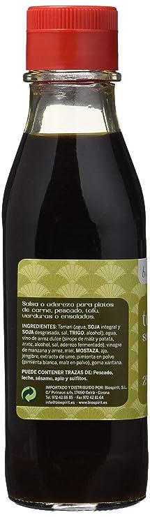 Biospirit Salsa Tamari- Teriyaki- 250 ml: Amazon.es: Alimentación y bebidas