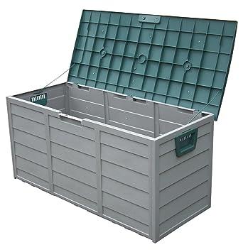 Fantastisch Garten-Aufbewahrungsbox, aus Kunststoff, für Schuppen, mit Rollen  JN36