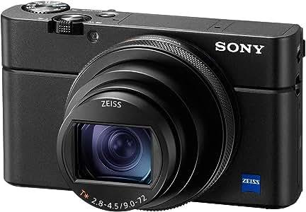Sony DSC-RX100M6 VI Digital Camera with CMOS Sensor, BIONZ X, 20.1 MP, 8.3x Optical Zoom, Black