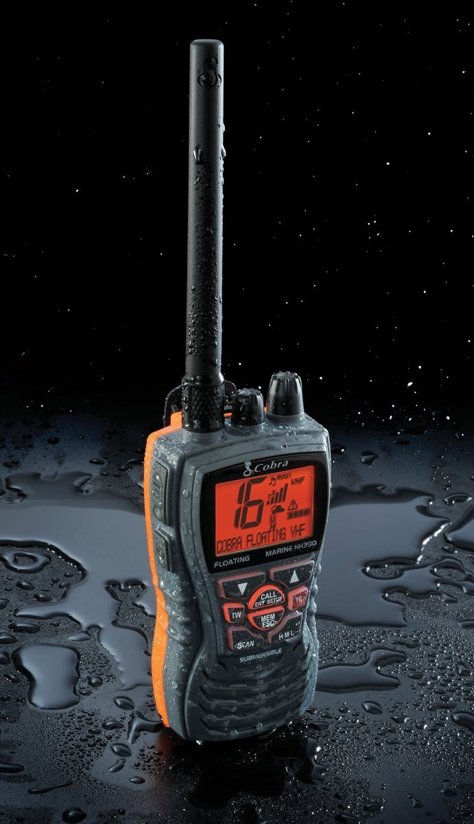 Cobra MRHH350FLT Floating VHF Long Range Marine Radio, Tri-Watch, Burp Feature