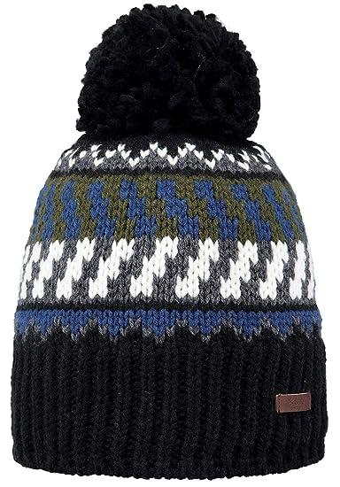 a379e9eee7251 Barts Nevada Beanie Black One Size: Amazon.co.uk: Clothing