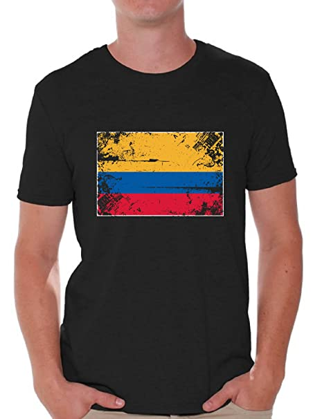 Awkward Styles Colombia Flag Shirts for Men Colombia T Shirt Colombian  Gifts Black S deeb13bb9