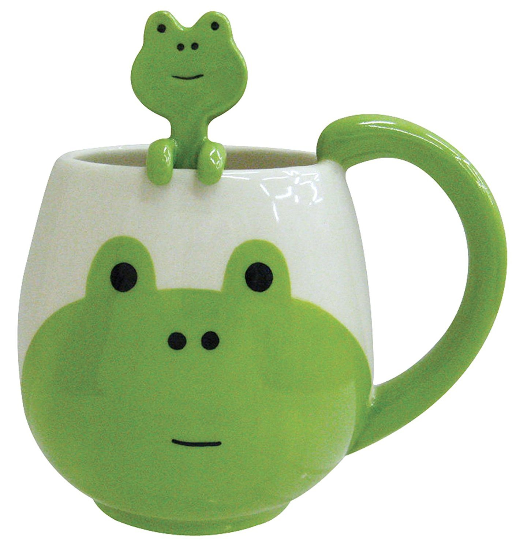 Decole Frog Mug and Spoon, 12 oz.