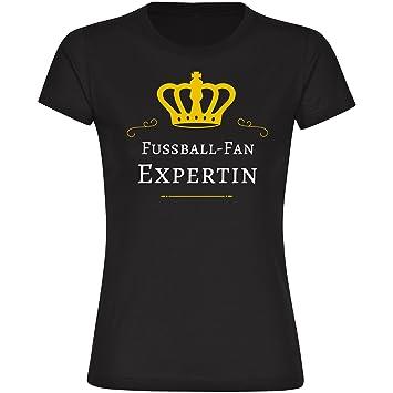 Camiseta de fútbol-Fan unaexperta para mujer negro tallas de la S a 2XL Negro