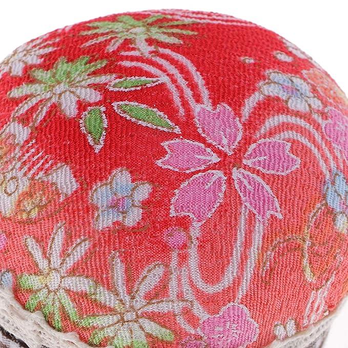 IPOTCH Cojín de Alfileres Almohadilla de Pasador Caja de Costura Cinta - KJ143