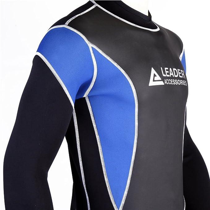Amazon.com  Leader Accessories 2.5mm Black Blue Men s Fullsuit Jumpsuit  Wetsuit  Sports   Outdoors 16248fa64