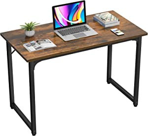 Homfio Computer Desk 32 Inch Home Office Study Writing Desk PC Laptop Table, Modern Simple Sturdy Gaming Desks Multi-Usage Wooden Desk for Small Space, Space Saving, Easy to Assemble, Rustic Brown