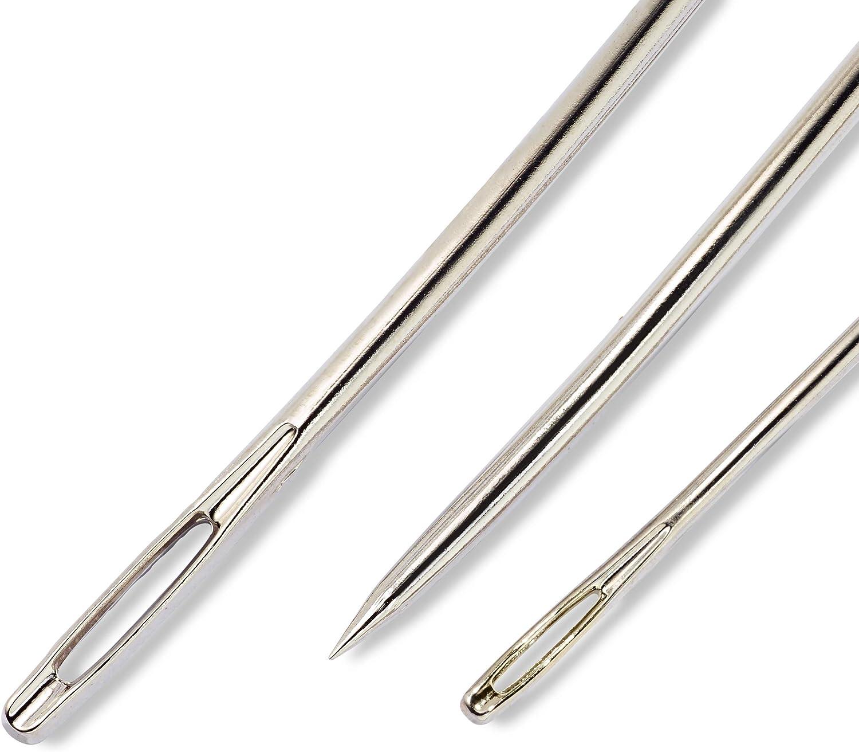 7 unidades tejer nadelset curvado agujas tapicería de cuero aguja de coser coser aguja