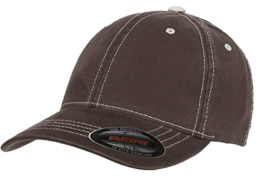 c85541e6cfb0d Flexfit Original Contrasting Stitch Blank Hat Baseball Cap Fitted Flex Fit  6386 Small Medium -