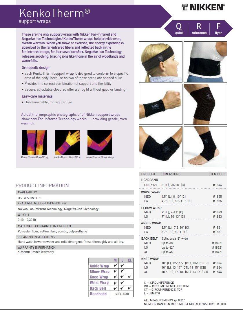 Nikken KenkoTherm Orthopedic Back Belt Support, Large (up to 42'' cm)