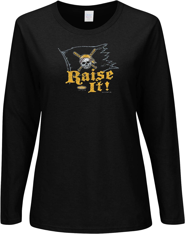 Sm-2x Raise It Black Ladies Shirt Smack Apparel Pittsburgh Baseball Fans