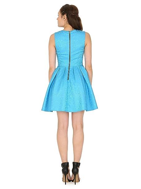 Madam Rage - Vestido - skater - para mujer Rosa azul 40