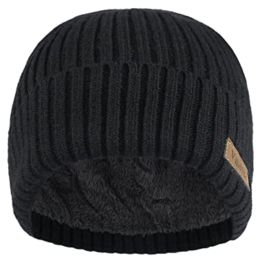 55d008b0e07 Vmevo Wool Cuffed Plain Beanie Warm Winter Knit Hats Unisex Watch Cap Skull  Cap at Amazon Men s Clothing store