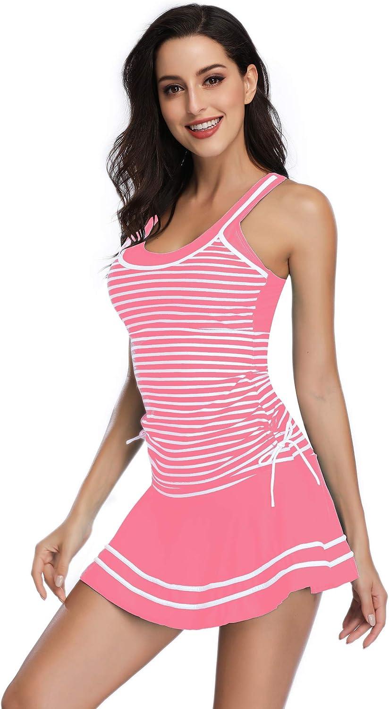 Summer Mae Costume da Bagno Donna Costumi da Mare Swimwear Classico Tankini a Strisce