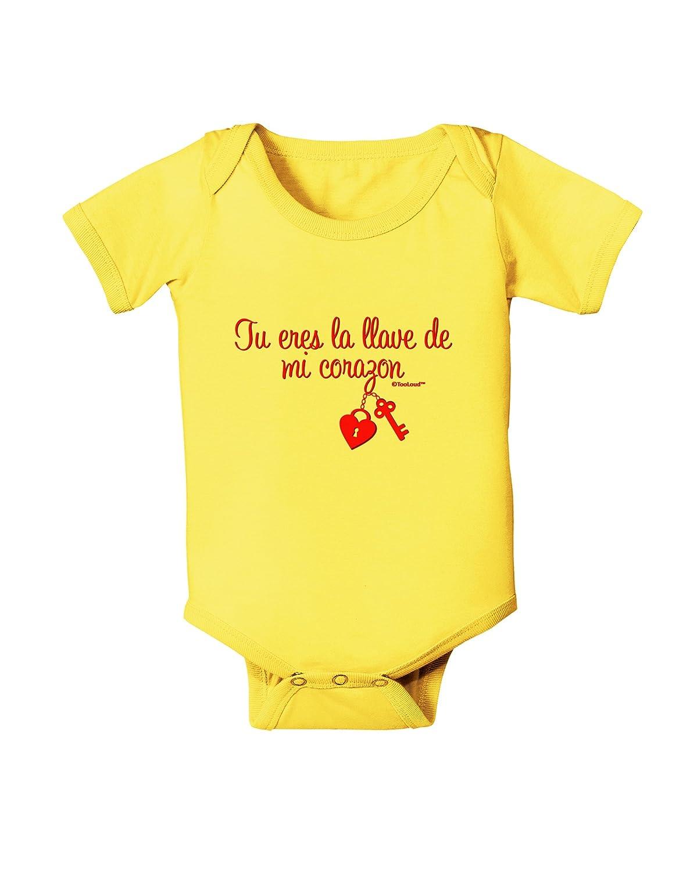TooLoud Tu Eres La Llave De Mi Corazon Baby Romper Bodysuit