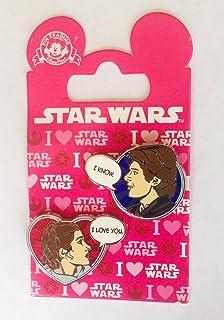 Star Wars Disney Pin 113240 Han Solo And Princess Leia Valentines 2016 I  Love You I