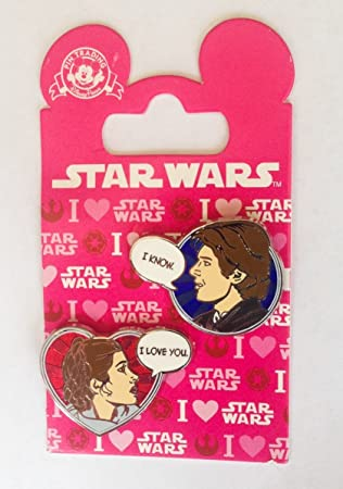 Star Wars Disney Pin 113240 Han Solo And Princess Leia Valentines 2016 I  Love You I