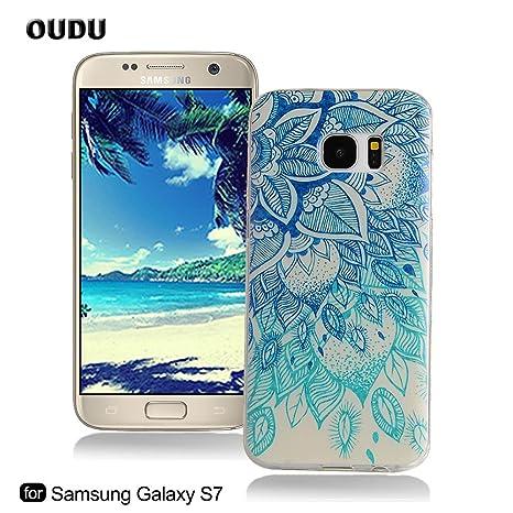 OuDu Funda para Samsung Galaxy S7 Carcasa Protectora Caso Silicona TPU Funda Suave Soft Silicone Case Cover Bumper Funda Ultra Delgado Carcasa ...