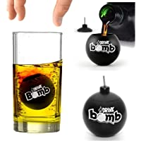 Bar Amigos Novelty Drink Bomb Shots And Cocktail Menu Recipe Ideas Cards, Black, Set of 4, 25 ml - Add to Shot Glasses Ideal for Jagermaister Red Bull Parties