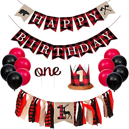 Little Lumberjack Boys Birthday Party Decorations /& Supplies