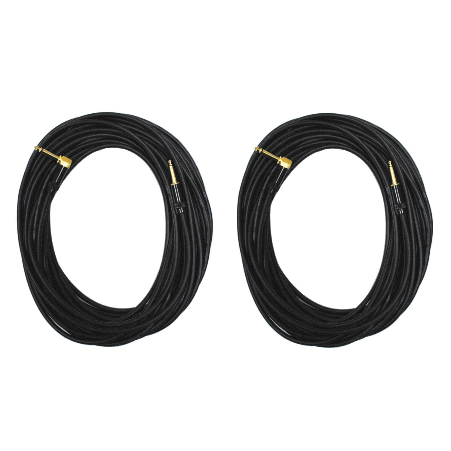 Audio 2000s E28150P2 1/4'' TS Right Angle to 1/4'' TS 50 Feet PatchCable (2 Pack)