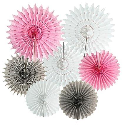 Amazon.com: Rosa Gris whitel Baby Shower decoración bebé ...