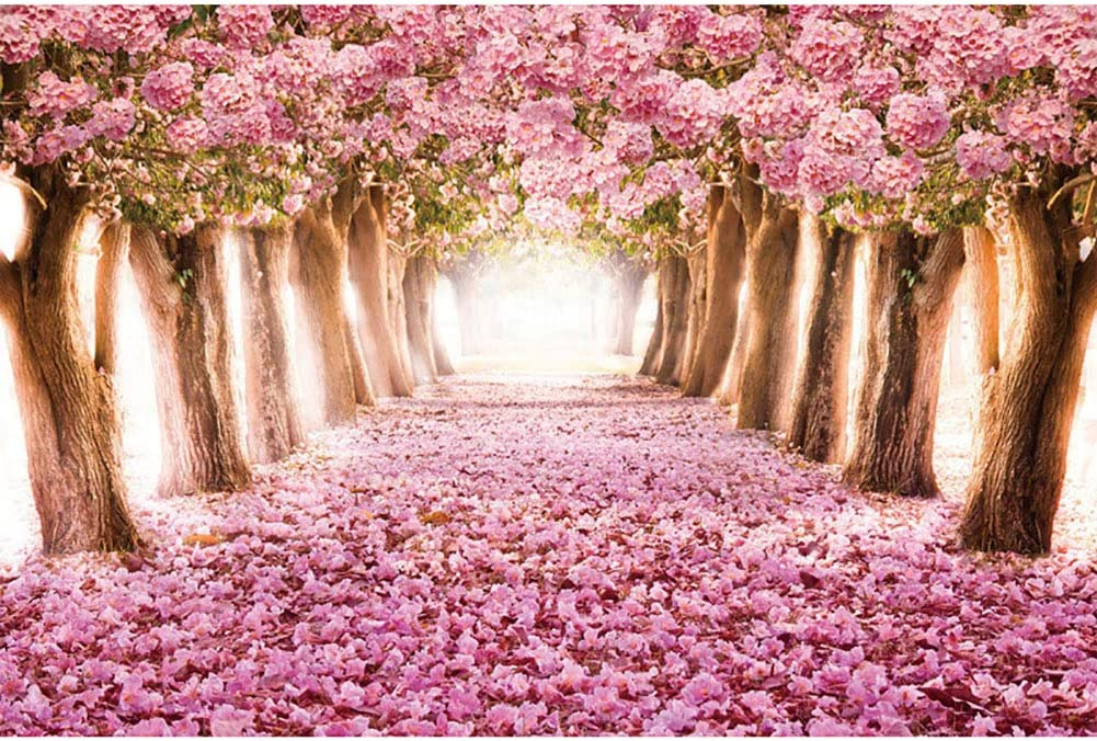 Stress Reliever Sea of Flowers Cherry Bblossoms Puzzle DIY Colorful Toys Educational Games Difficult Puzzle Art for Men and Women JUFANGFIN Jigsaw Puzzles 1000 Pieces for Adults Kids Families